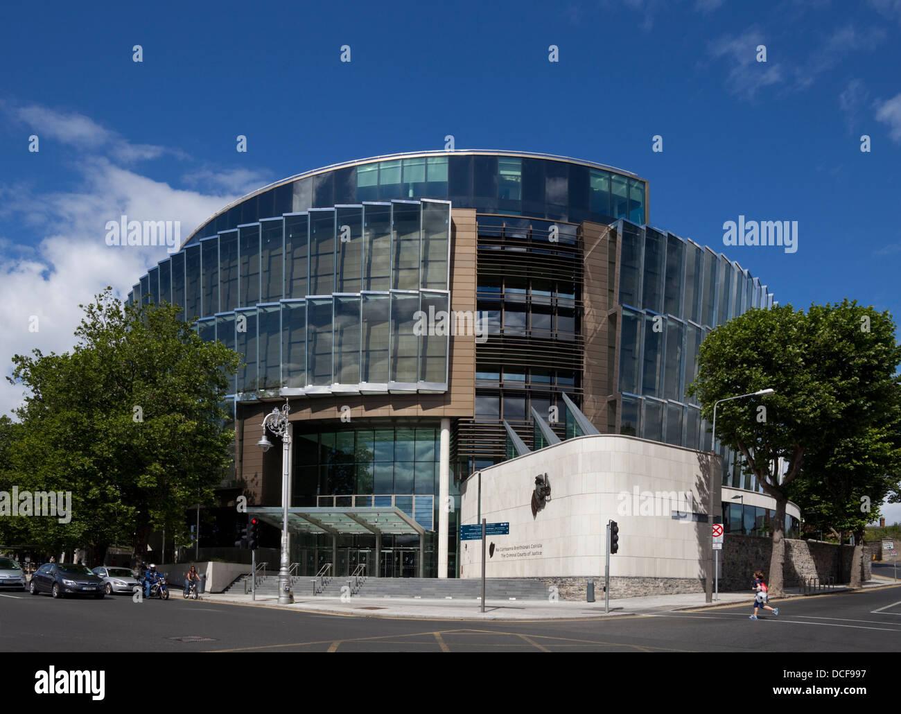 The Criminal Courts of Justice, the principal court,Parkgate Street, near the Phoenix Park, Dublin City, Ireland - Stock Image