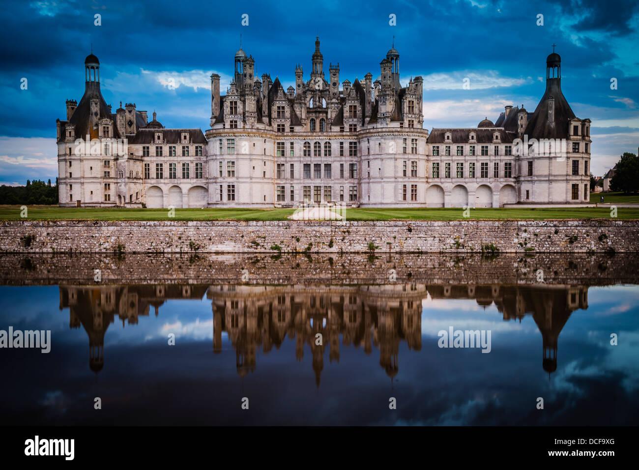 Chateau de Chambord, Loire Valley, Centre France - Stock Image
