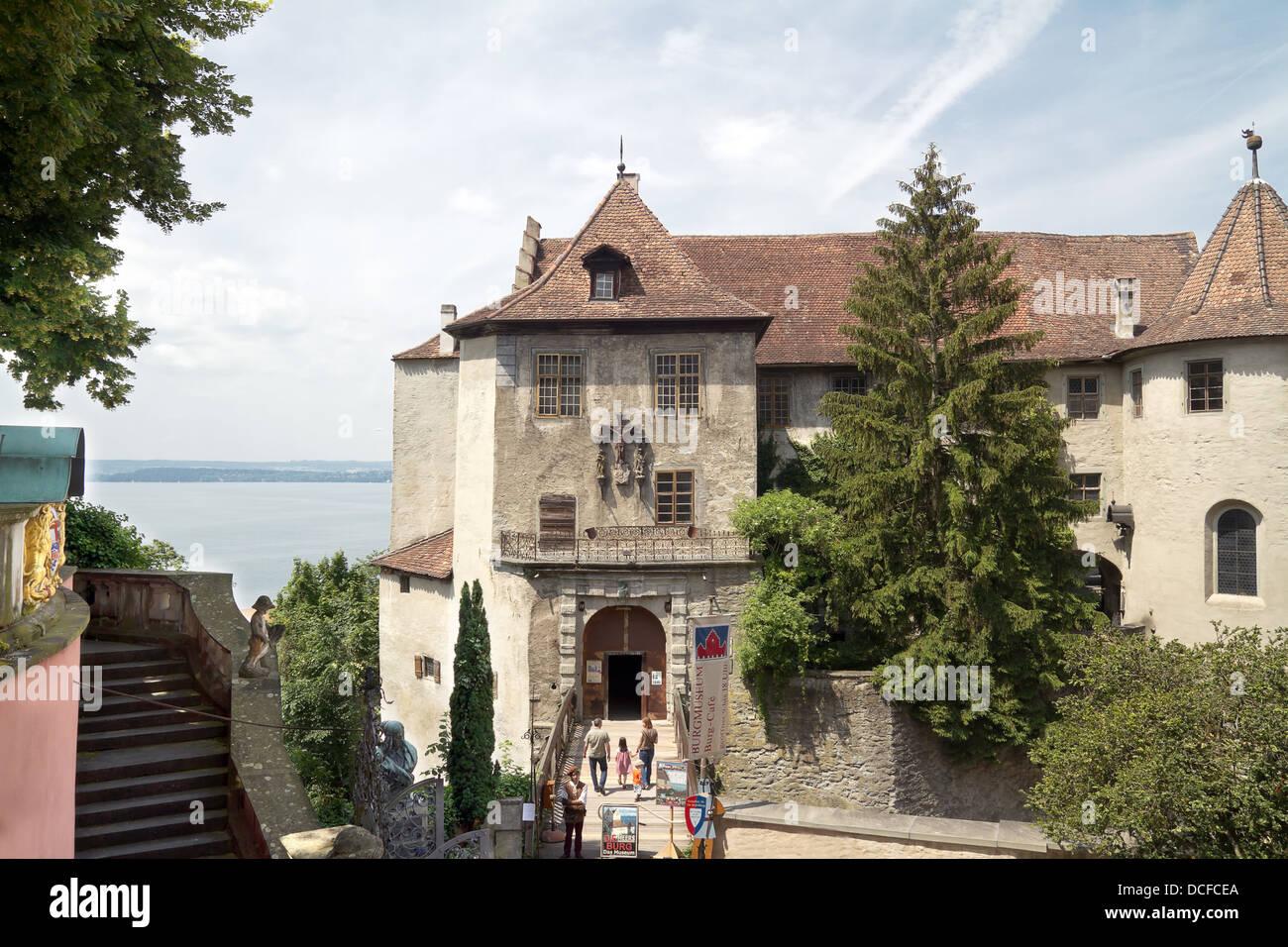 Meersburg Castle, Bodensee district, Baden-Wuerttemberg, Germany, Europe Stock Photo