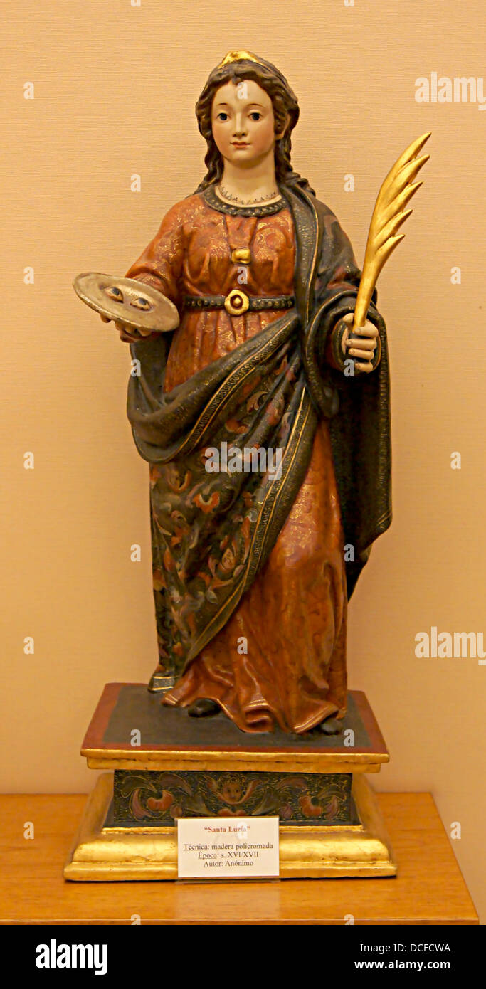 Statue of Saint Lucy, Cathedral of Guadix, Andalusia, Spain - Stock Image
