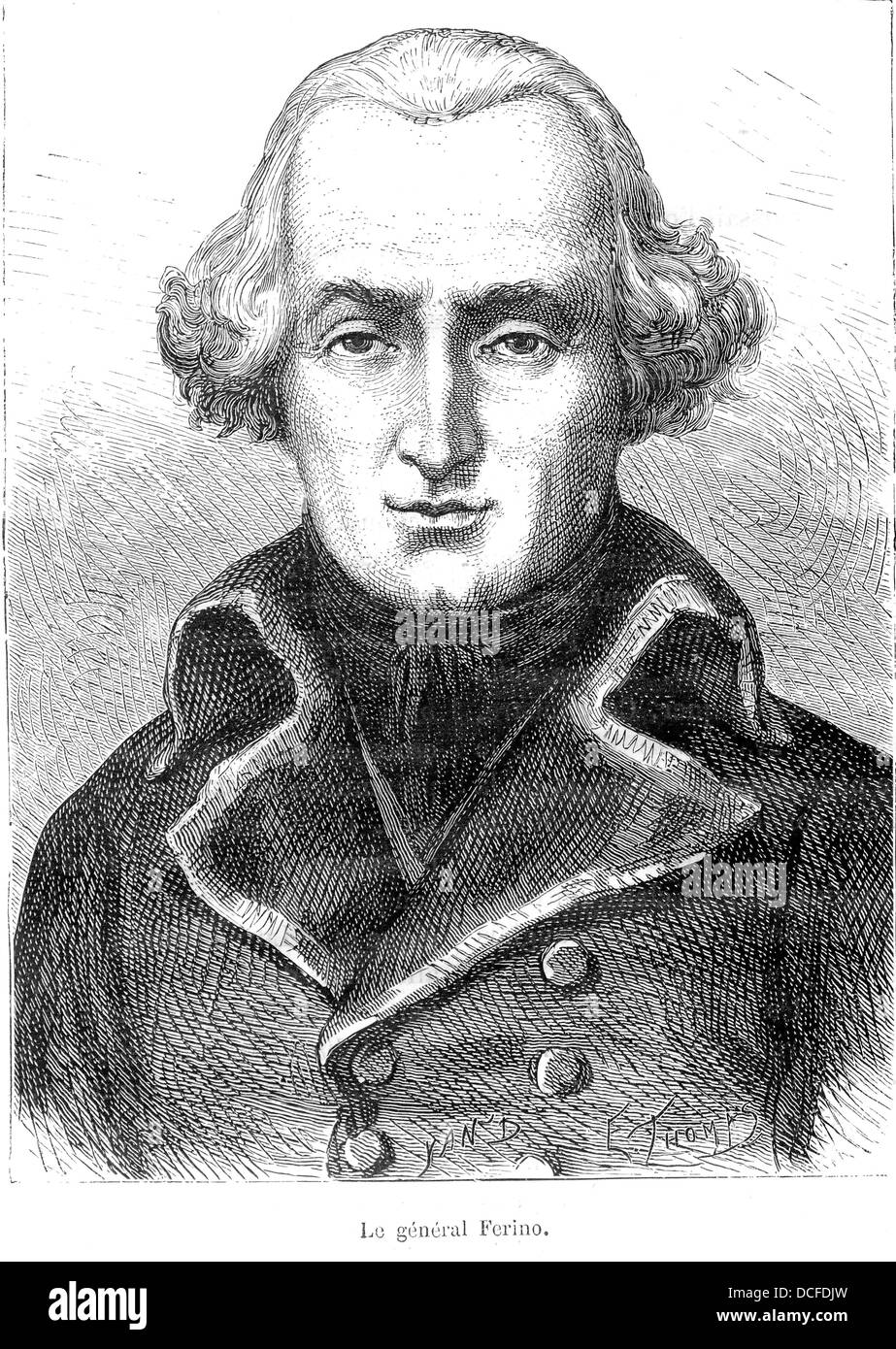 Pierre Marie Barthélémy Ferino, 1747-1816, French General Stock Photo