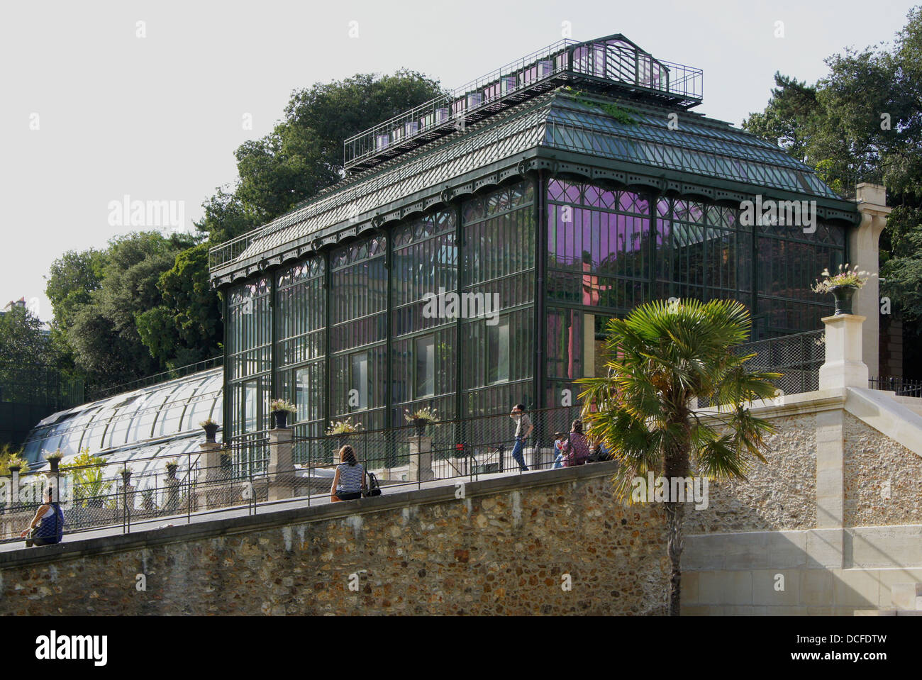 One of the oldest greenhouses in the world (1834-1836), restored 2010. Jardin des Plantes, Paris, France - Stock Image