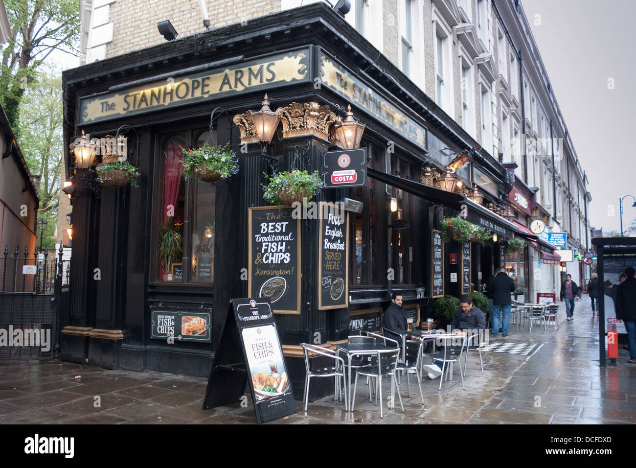 London Pub Stanhope Arms Gloucester Street Westminster - Stock Image