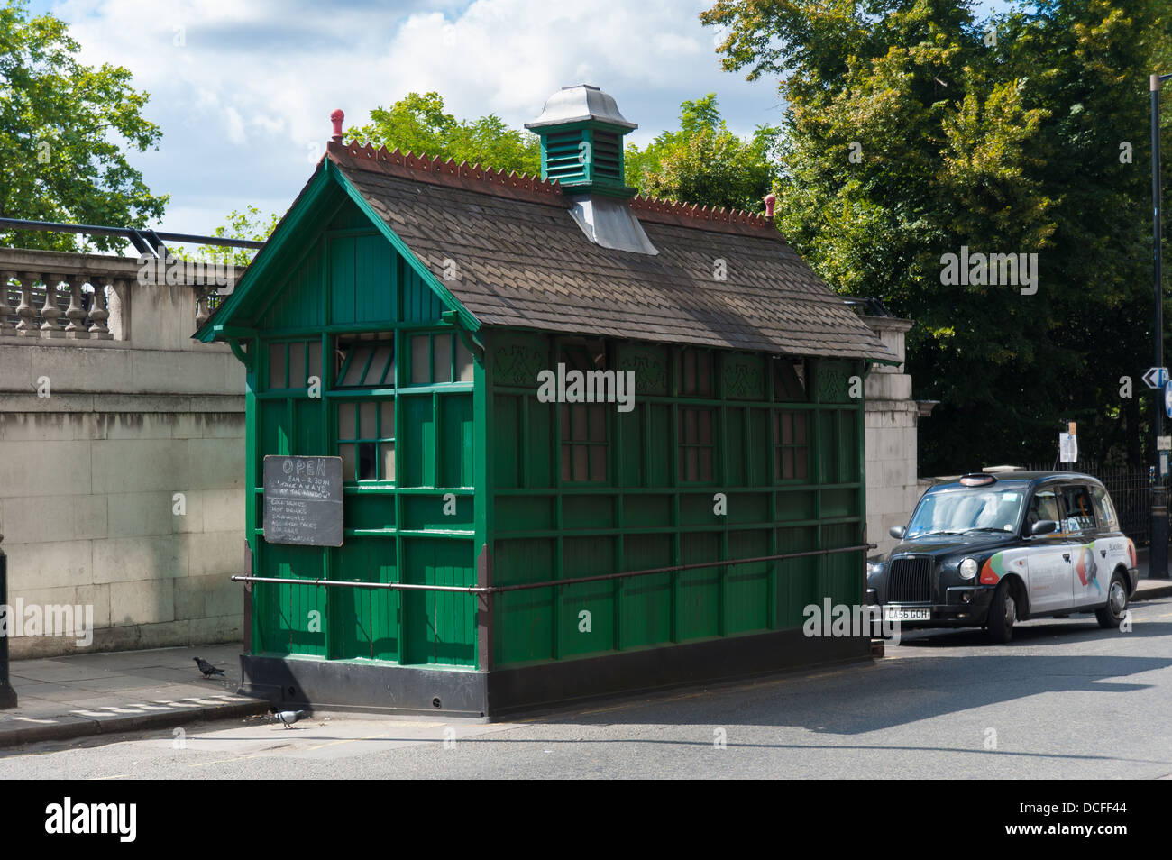 A Cabman's shelter, London. Stock Photo