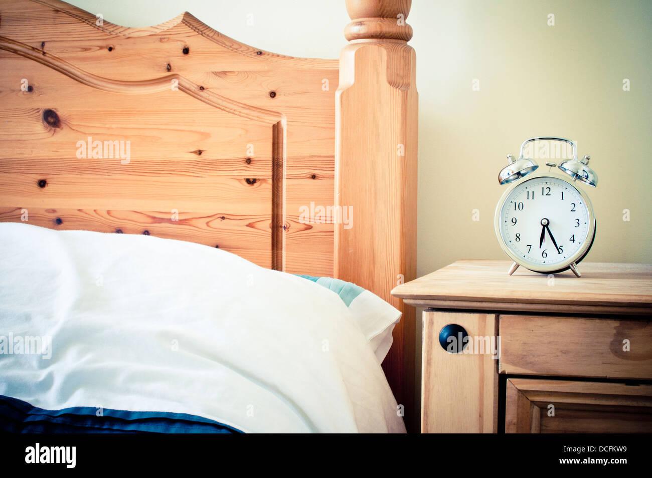 Pine bedroom furniture - Stock Image