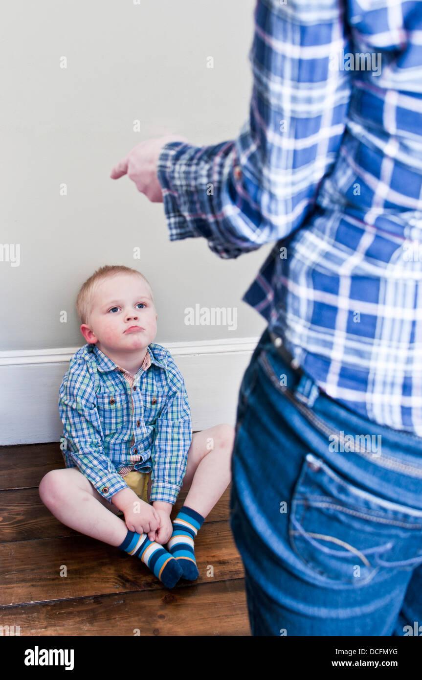 Naughty child - Stock Image