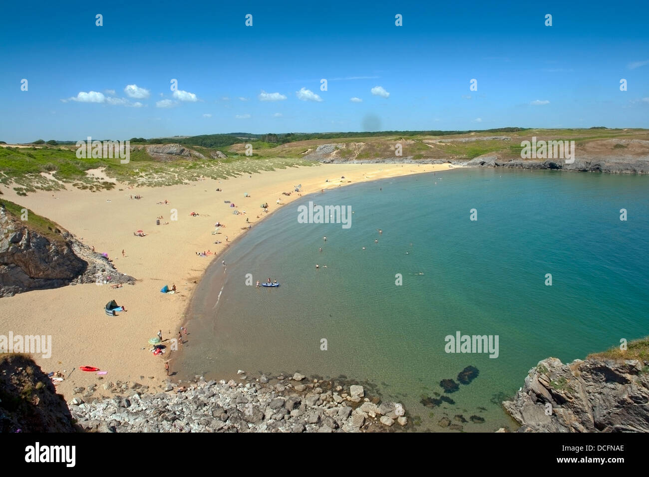 Broad Haven South beach, in the Pembrokeshire Coast National Park and onThe Wales Coast Path - Stock Image