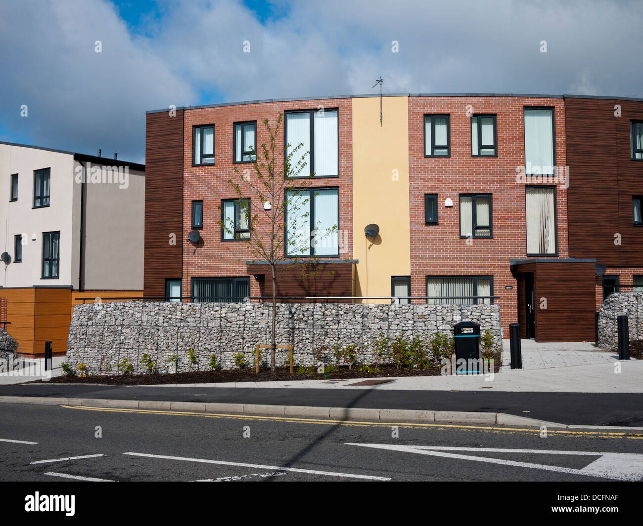New housing developments Oldham town centre, Oldham, Greater Manchester, UK. - Stock Image