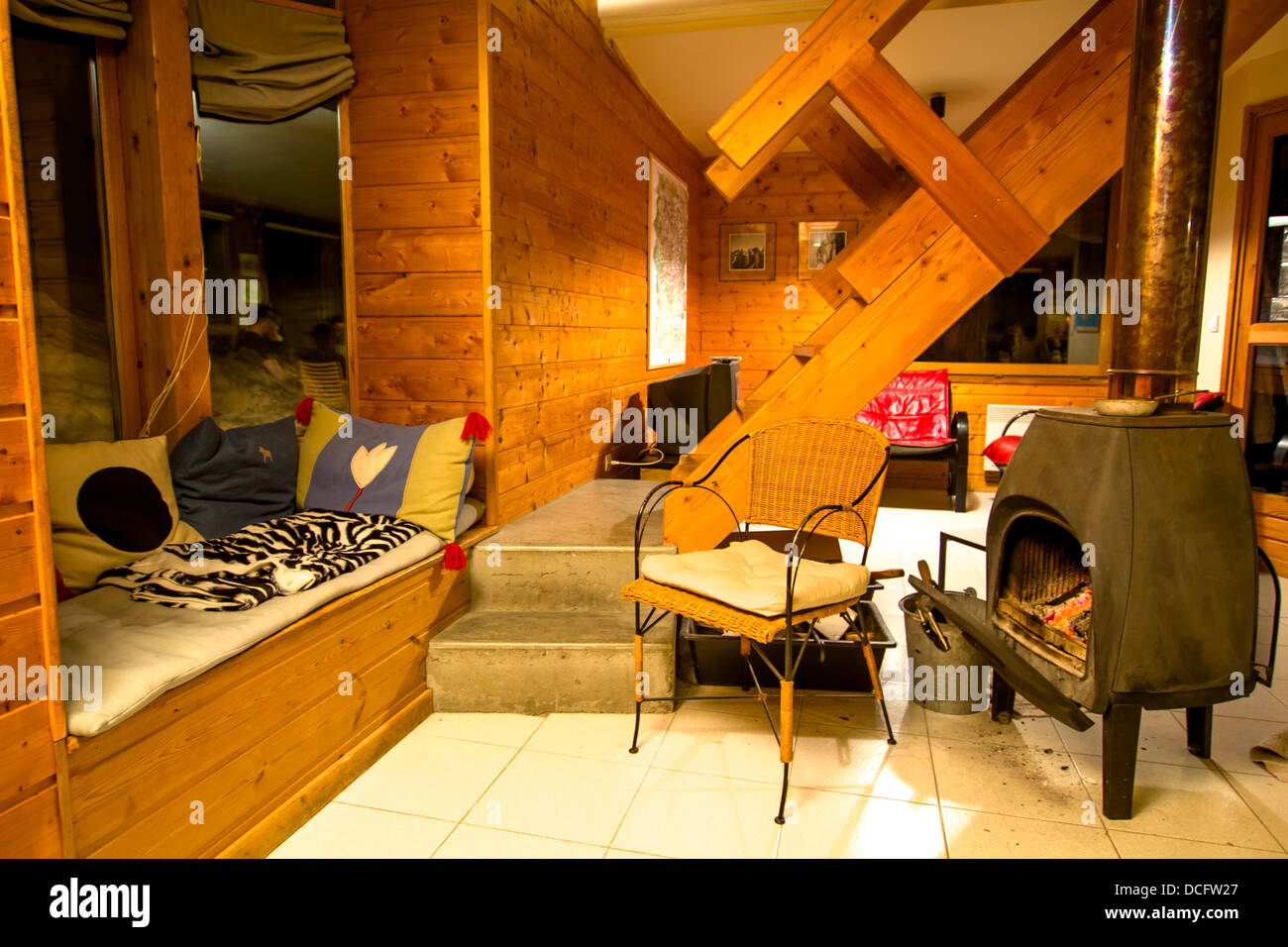 Ski Chalet Interior Design the interior design of the french ski chalet in alps stock