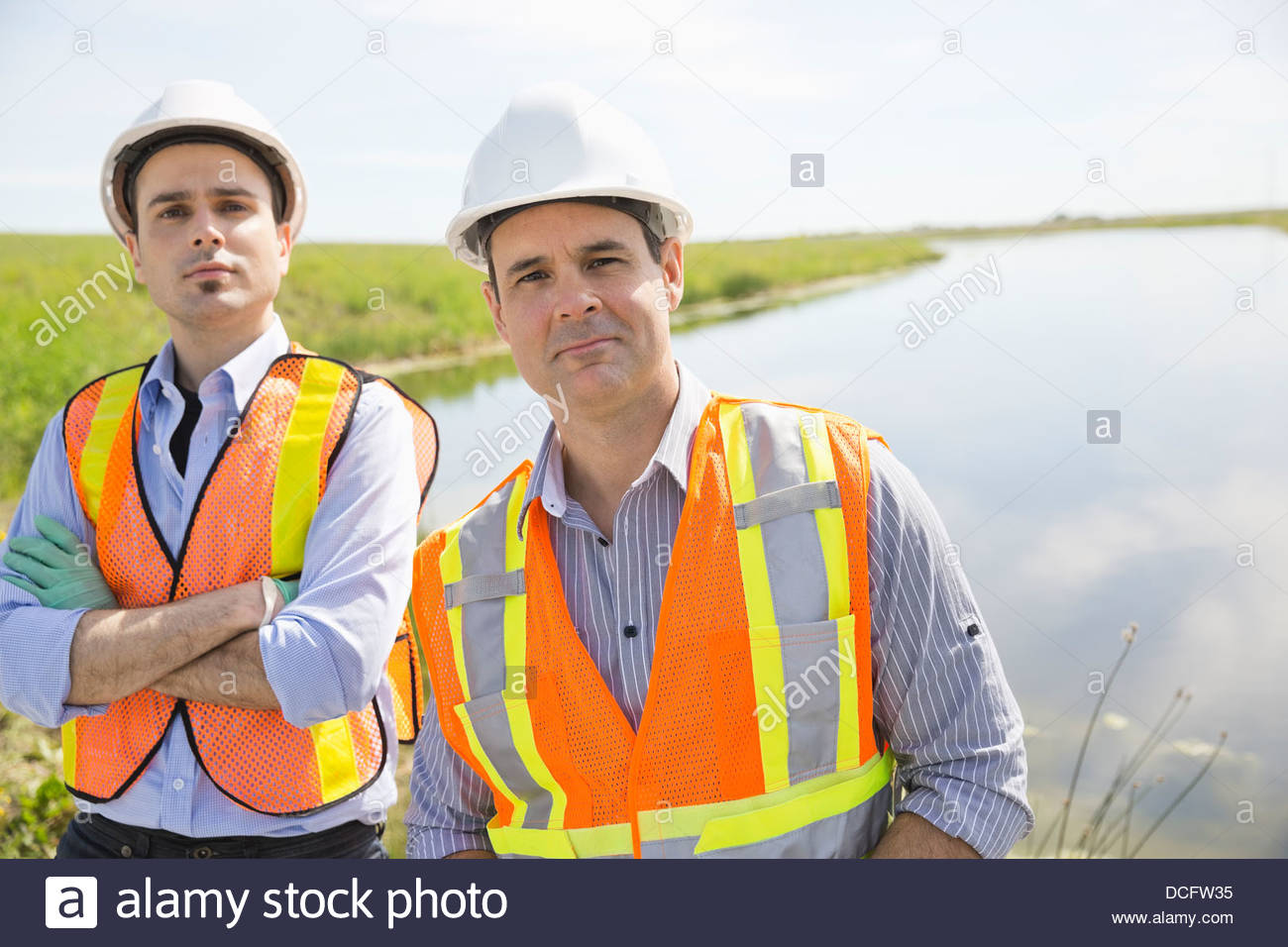 Portrait of male ecologists - Stock Image