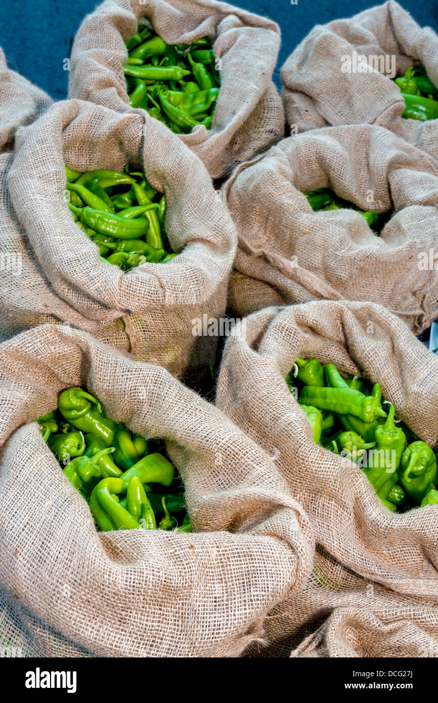 Fresh natural Peppers ripe and ready to eat - Stock Image