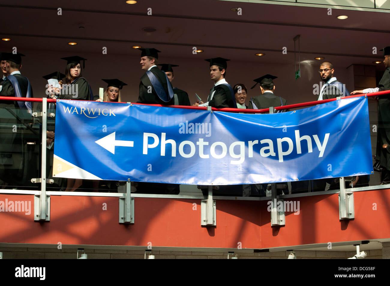Warwick University graduation day. - Stock Image