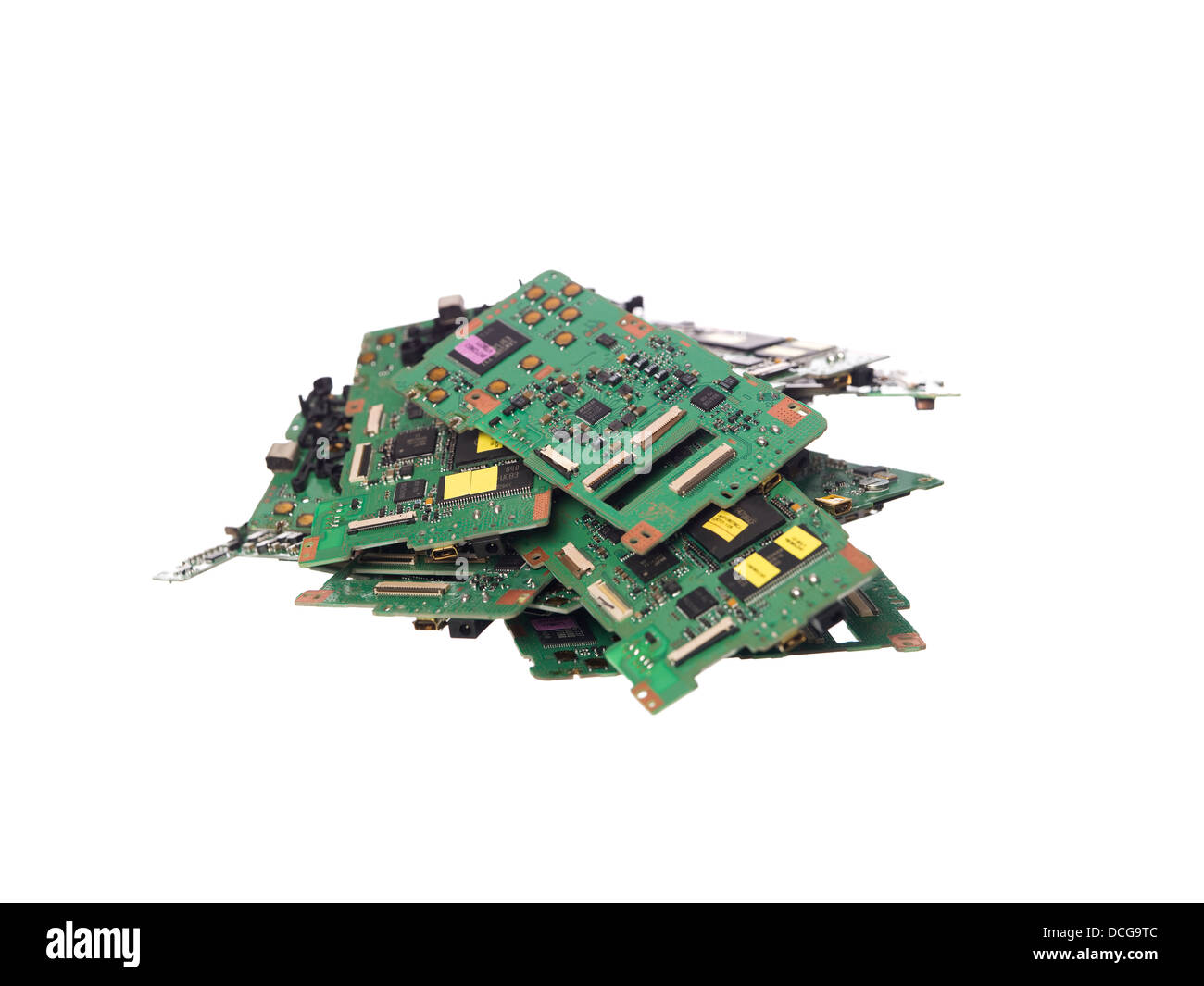 Stack of circuit cards - Stock Image