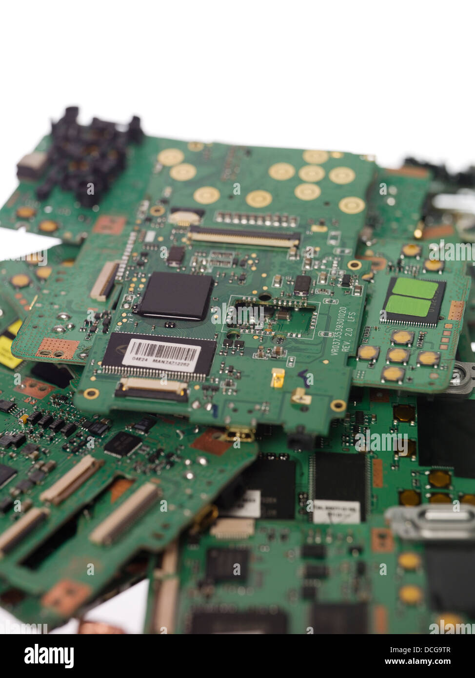 Stack of circuit boards - Stock Image