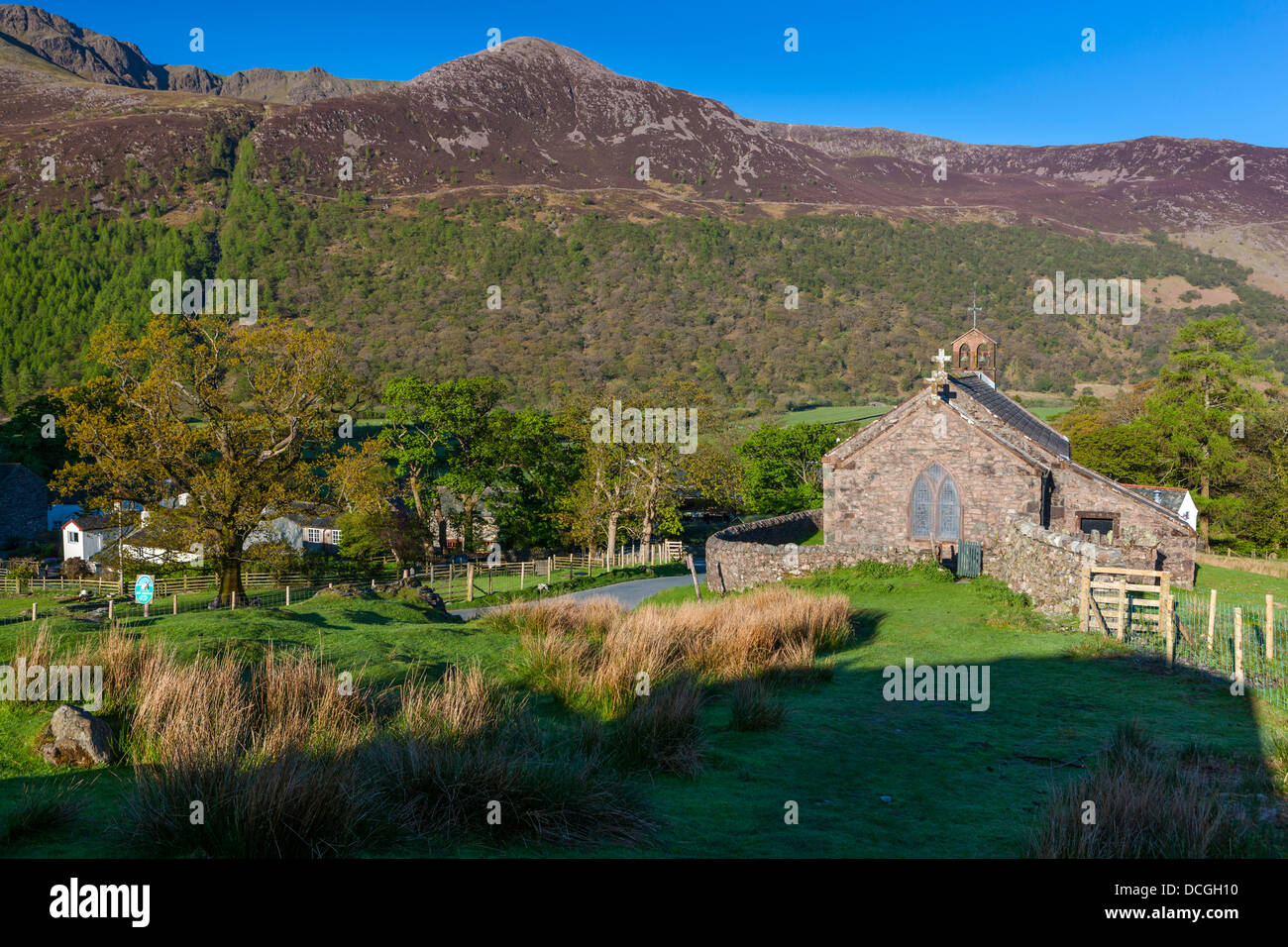 St James' Church in Buttermere, Lake District National Park, Cumbria, England, UK, Europe. Stock Photo