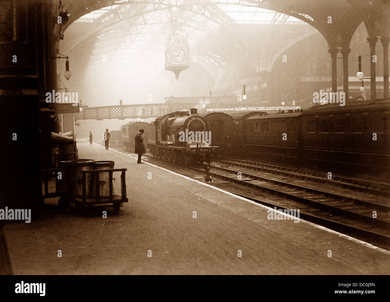 London Liverpool Street Station probably 1920s - Stock Image