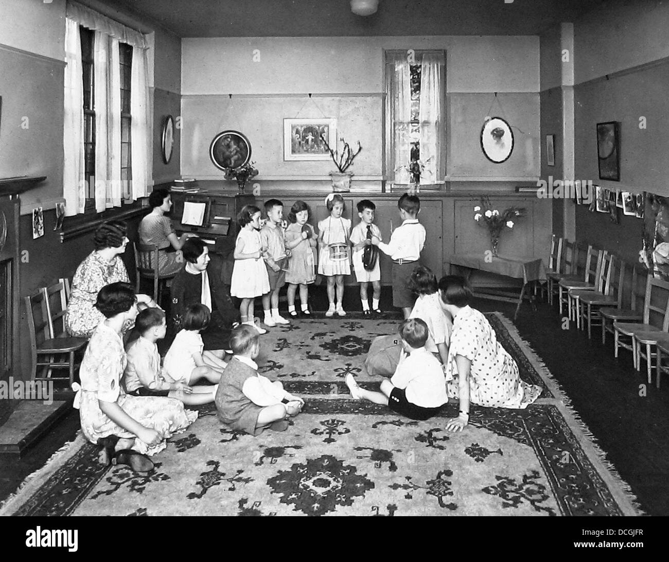 Sunday School in the 1940s - Stock Image