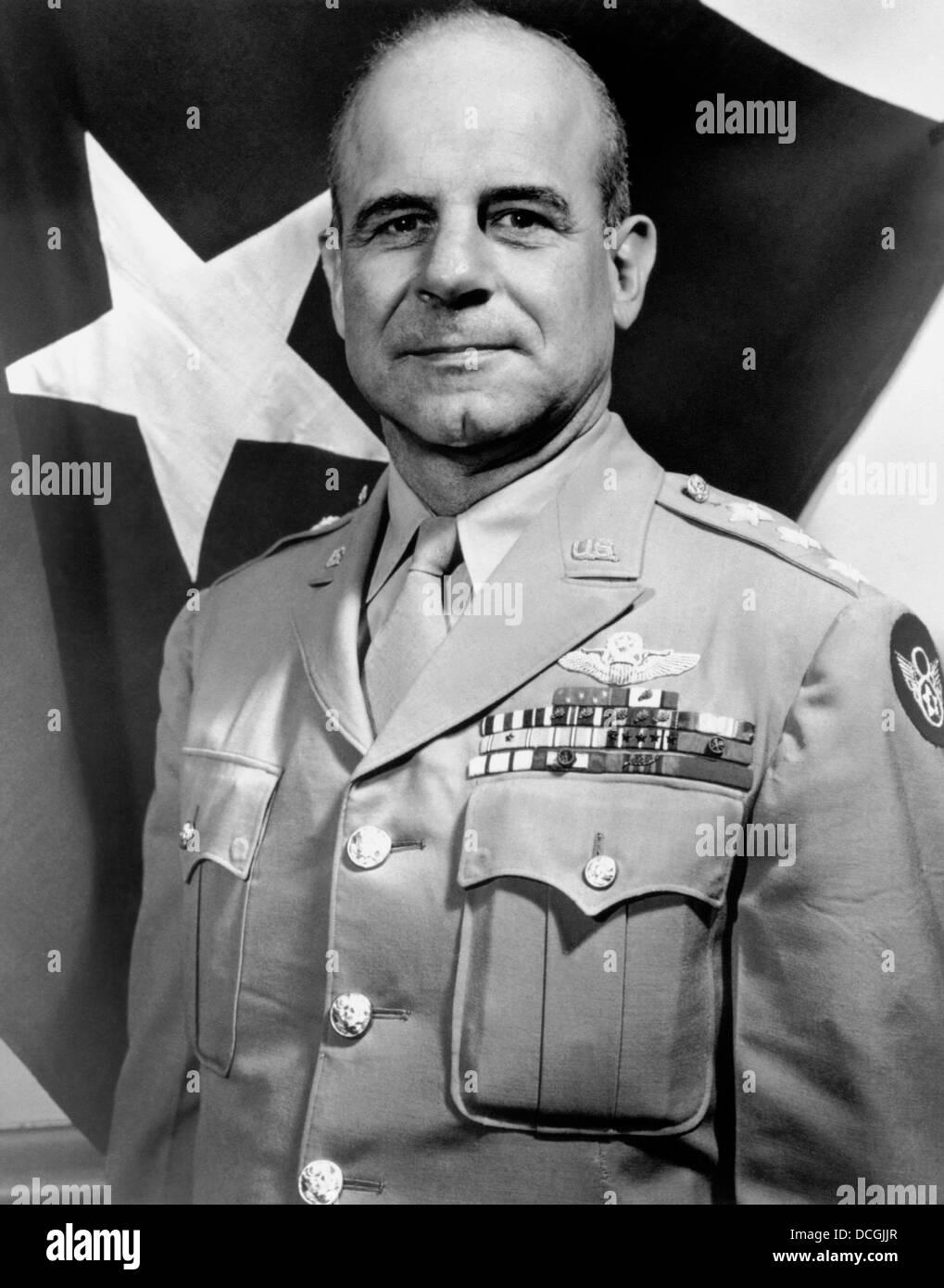 Digitally restored vintage World War II photo of General James Doolittle. - Stock Image