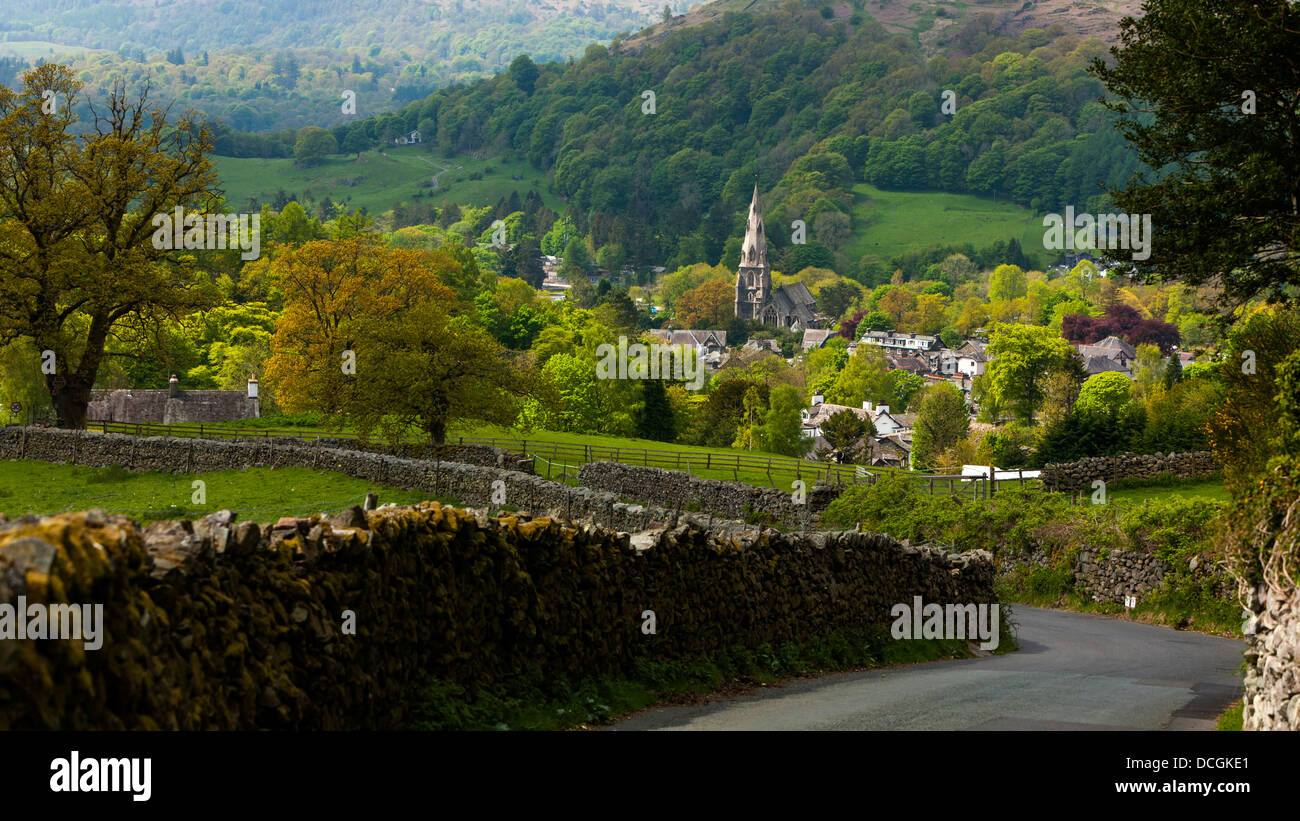 Ambleside in the Lake District National Park, Cumbria, England, UK, Europe. - Stock Image