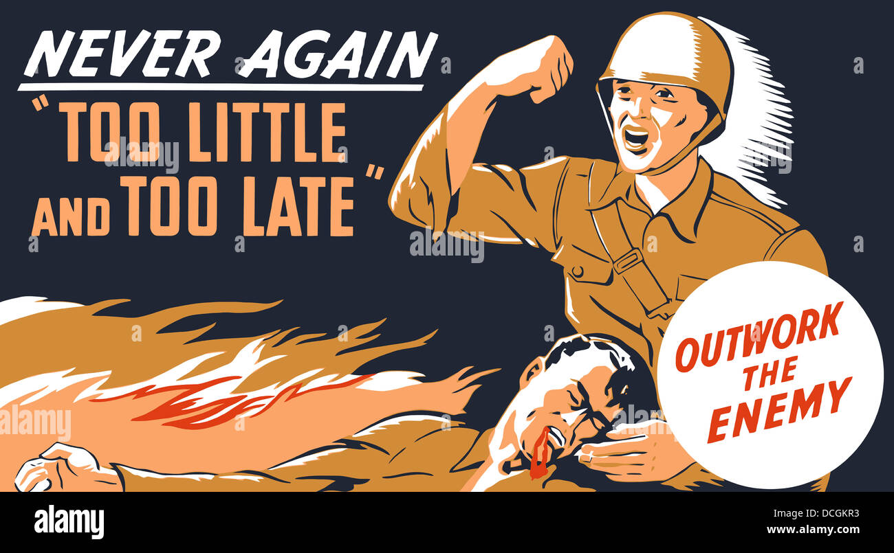 World War Ii Propaganda Poster Stock Photos & World War Ii