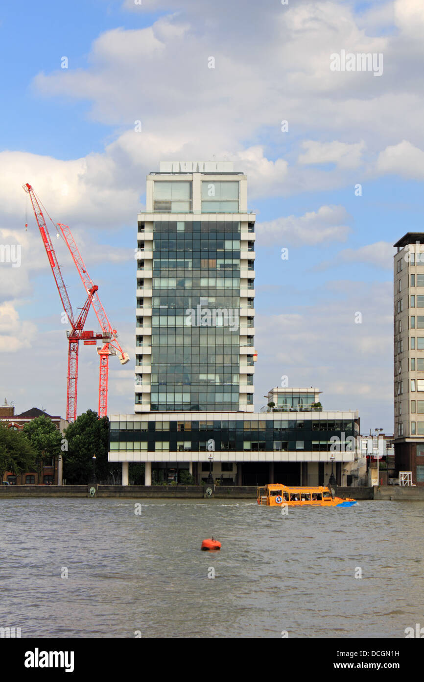 The tower blocks of the Albert Embankment viewed from across the River Thames. London UK. - Stock Image
