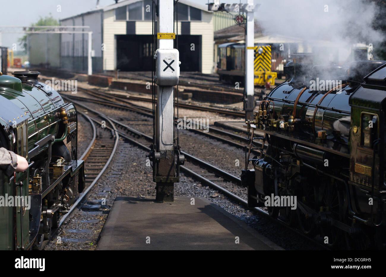 Romney, Hythe and Dymchurch Railway - New Romney station: Kent, England - Stock Image