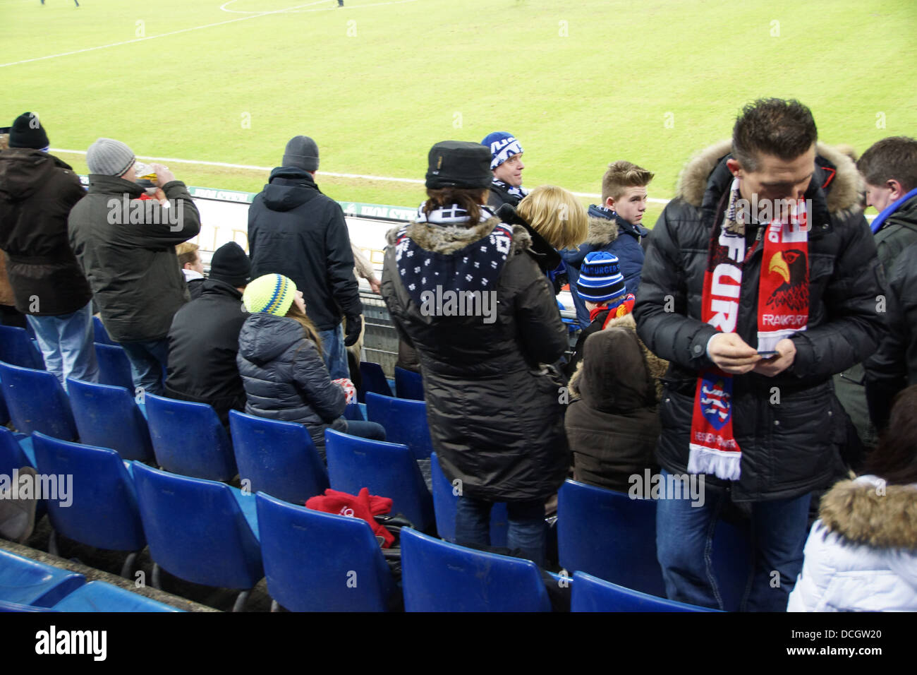 disappointed fans of the Hamburger Sport Verein HSV - Stock Image