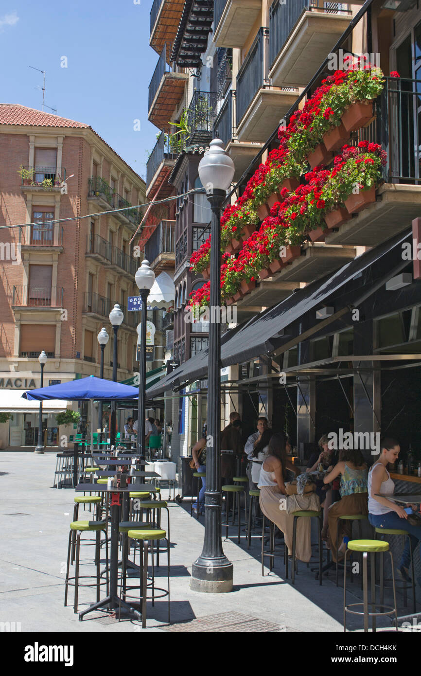 Cafe In The Plaza Las Flores City Of Murcia Costa Calida Spain