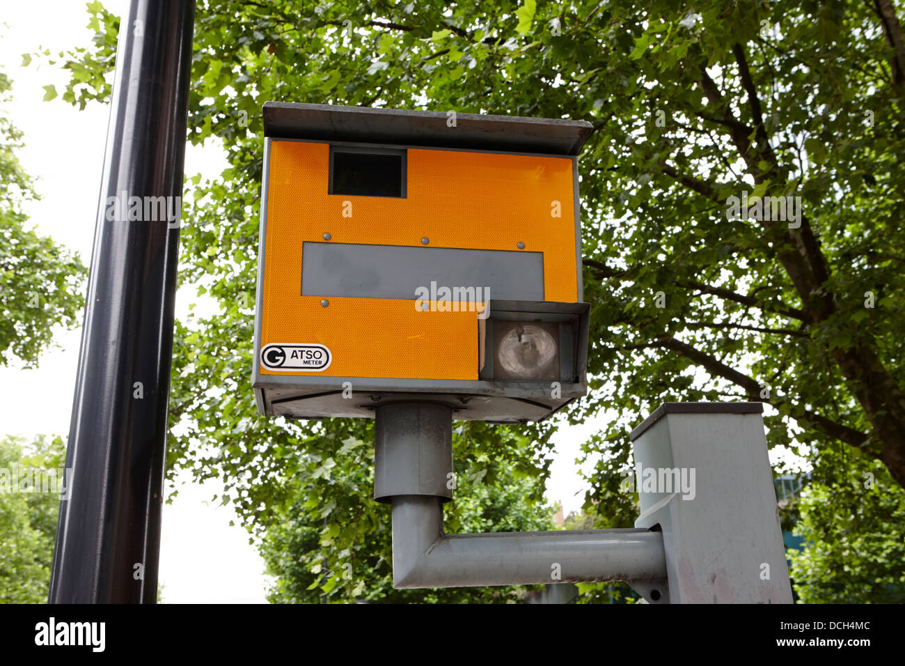 gatso meter speed camera in central London England UK - Stock Image