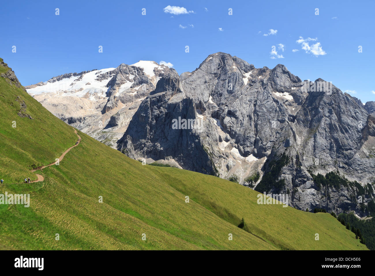 Dolomiti - summer view of mount Marmolada, Trentino, Italy Stock Photo