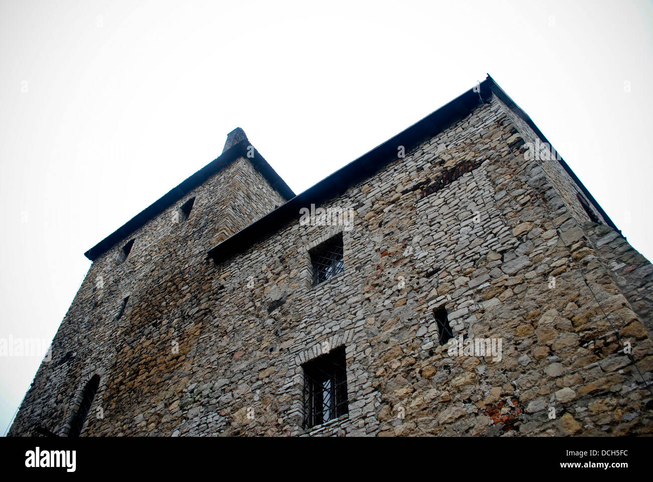 Old, historical, medieval castle in Bedzin, Poland. Stock Photo
