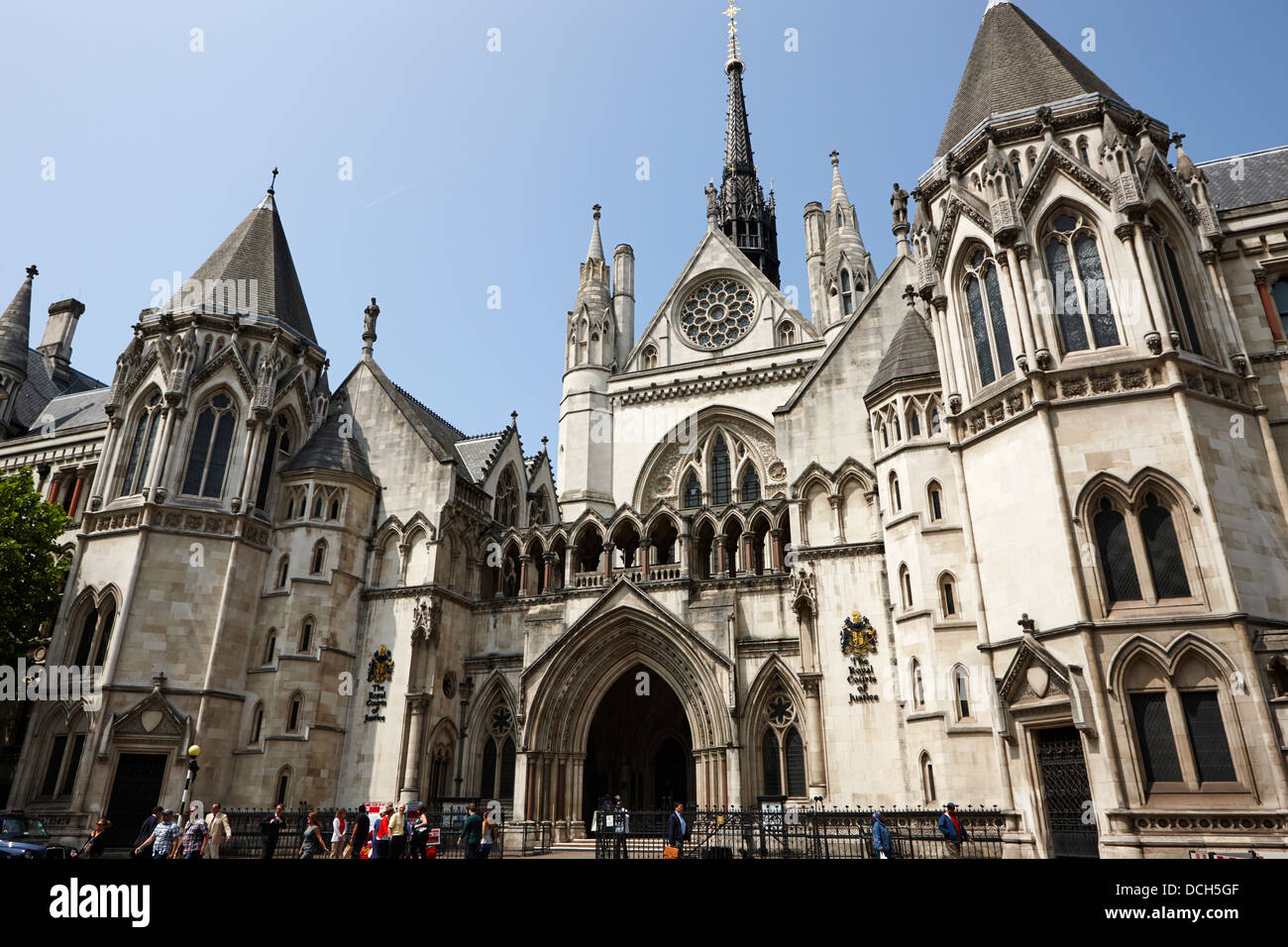 the royal courts of justice London England UK - Stock Image