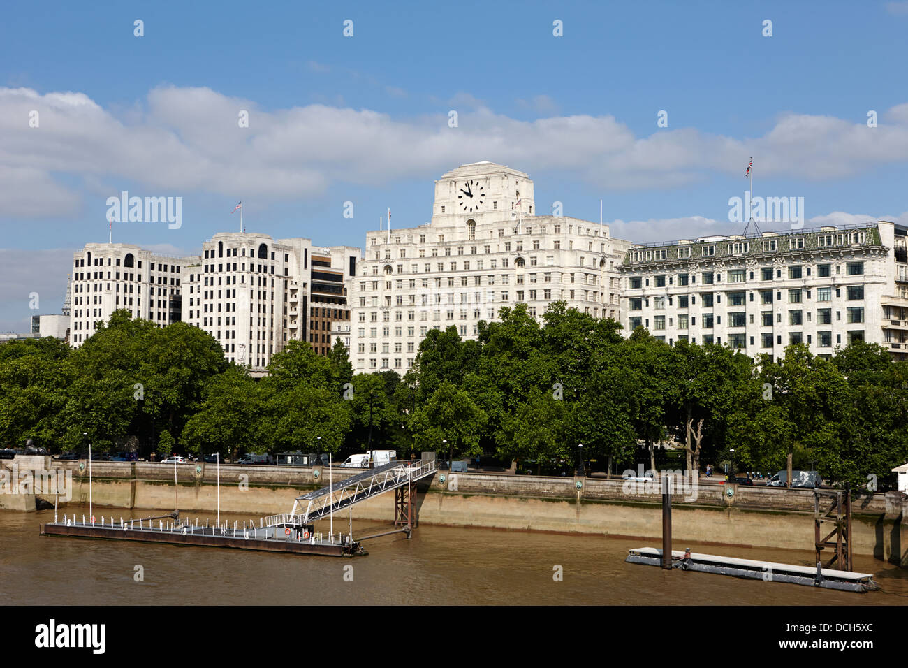 the adelphi shell mex house and the savoy hotel victoria embankment London England UK - Stock Image