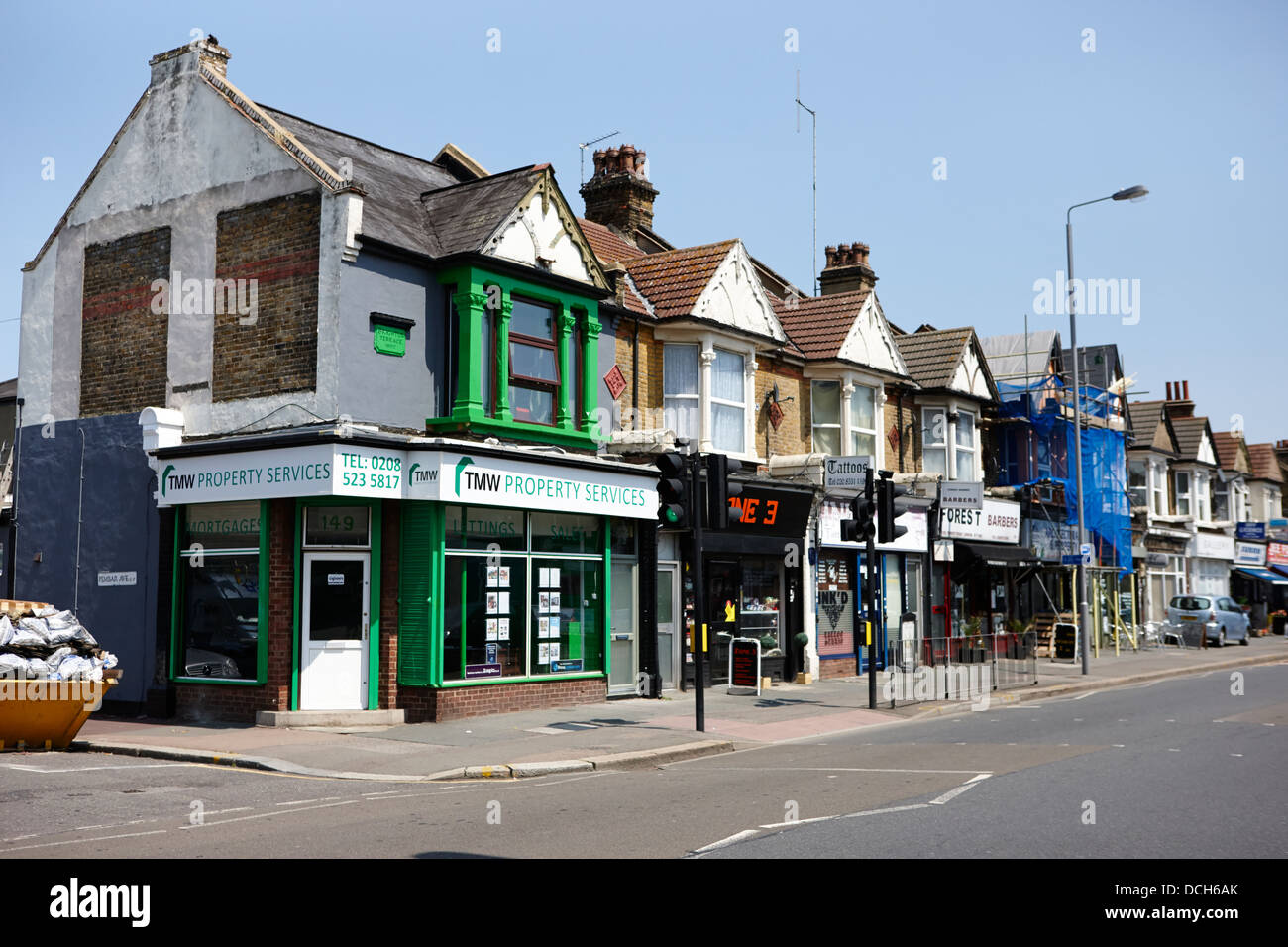 brighton terrace built in 1900 forest road walthamstow e17 London England UK - Stock Image