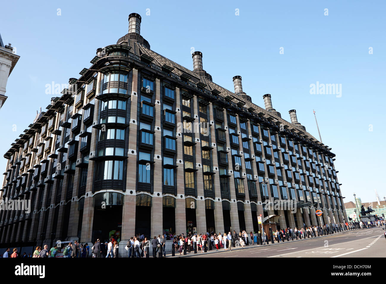 portcullis house home to mps offices London England UK - Stock Image