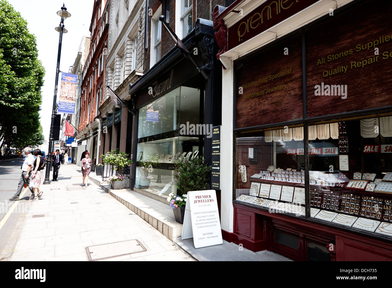 Jewellers Shops On Hatton Garden London England UK