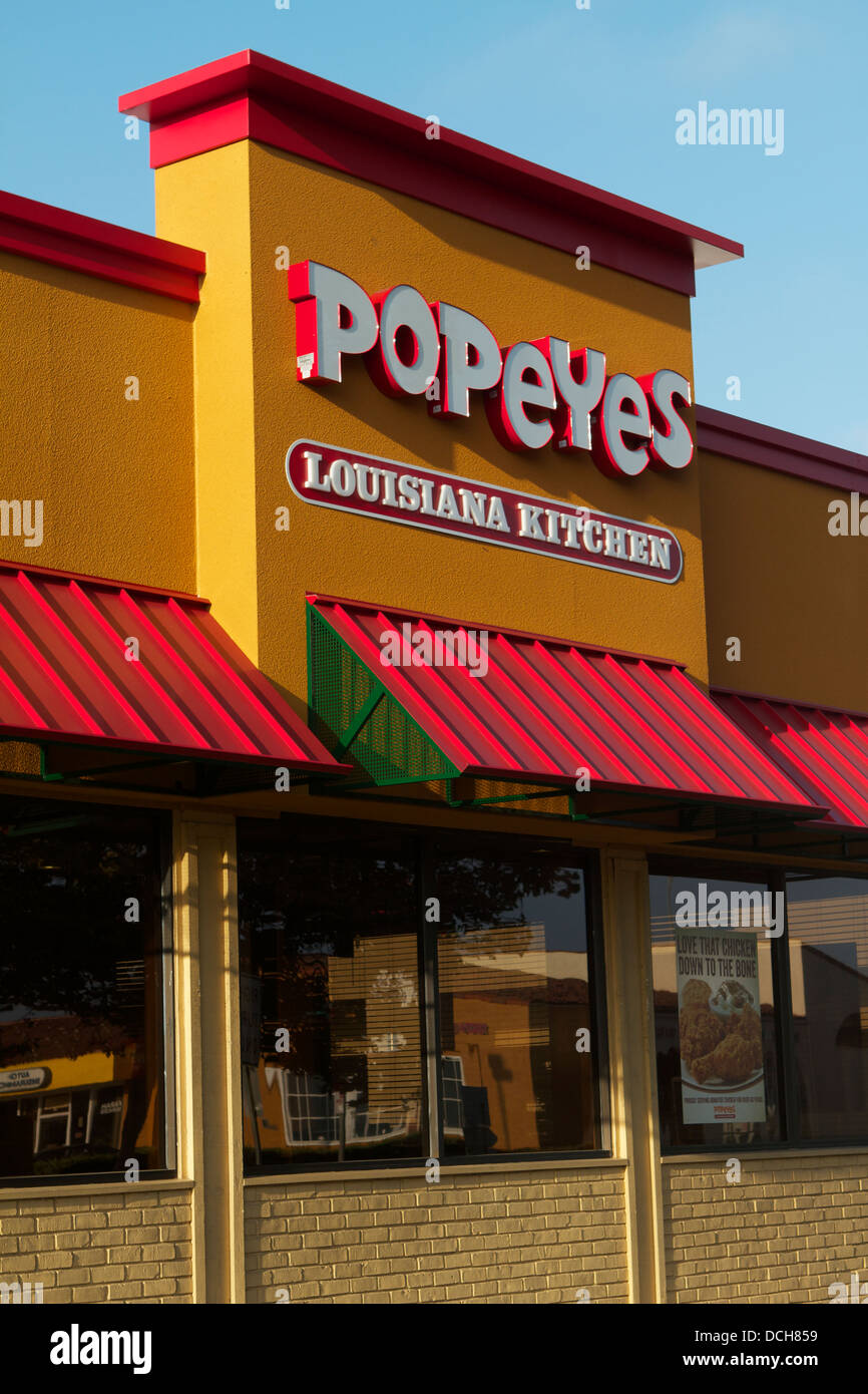 Popeyes Louisiana Kitchen, restaurant in California .With a \