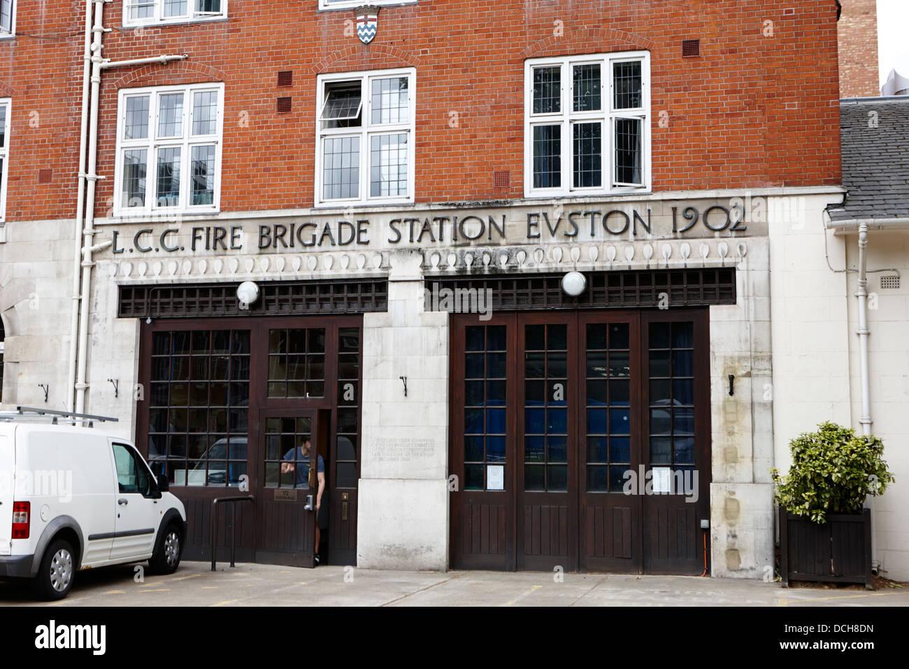 old lcc london fire brigage station euston road London England UK - Stock Image