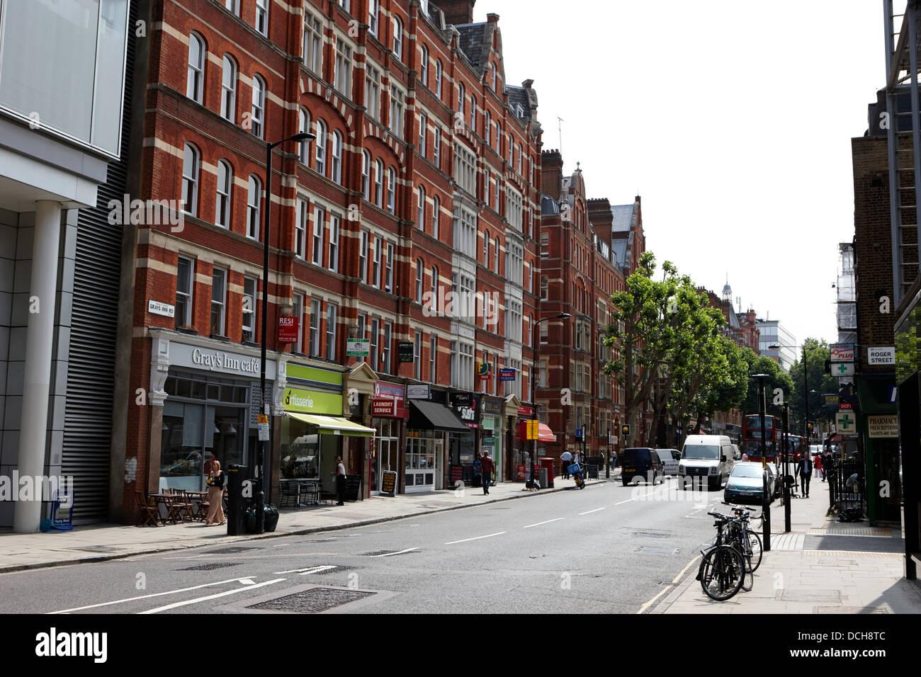 grays inn road London England UK - Stock Image