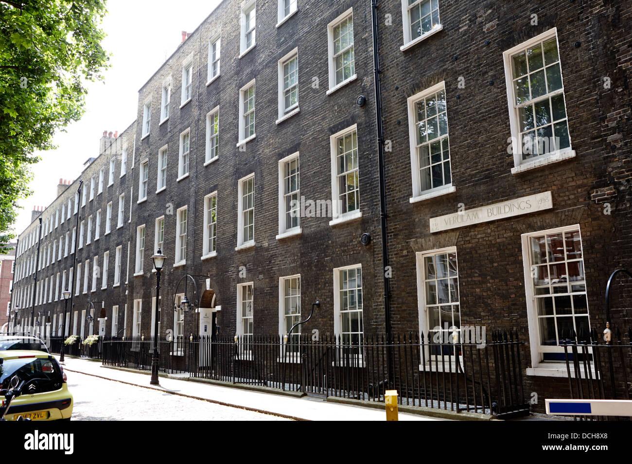 verulam buildings grays inn London England UK - Stock Image