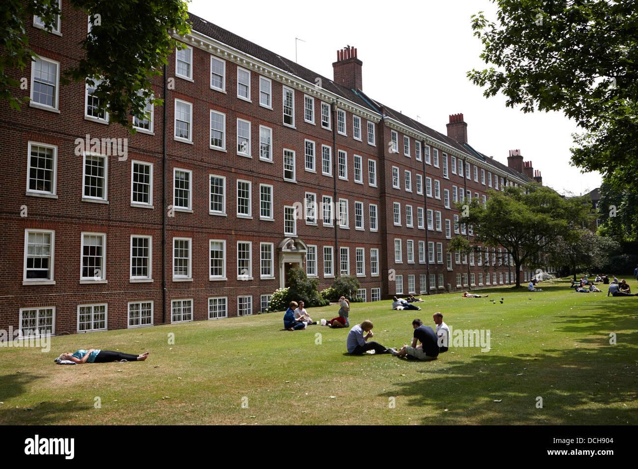 grays inn field and gardens London England UK - Stock Image