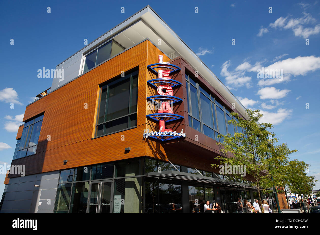Legal Seafoods restaurant on Liberty Wharf in the Seaport District, Boston, Massachusetts - Stock Image