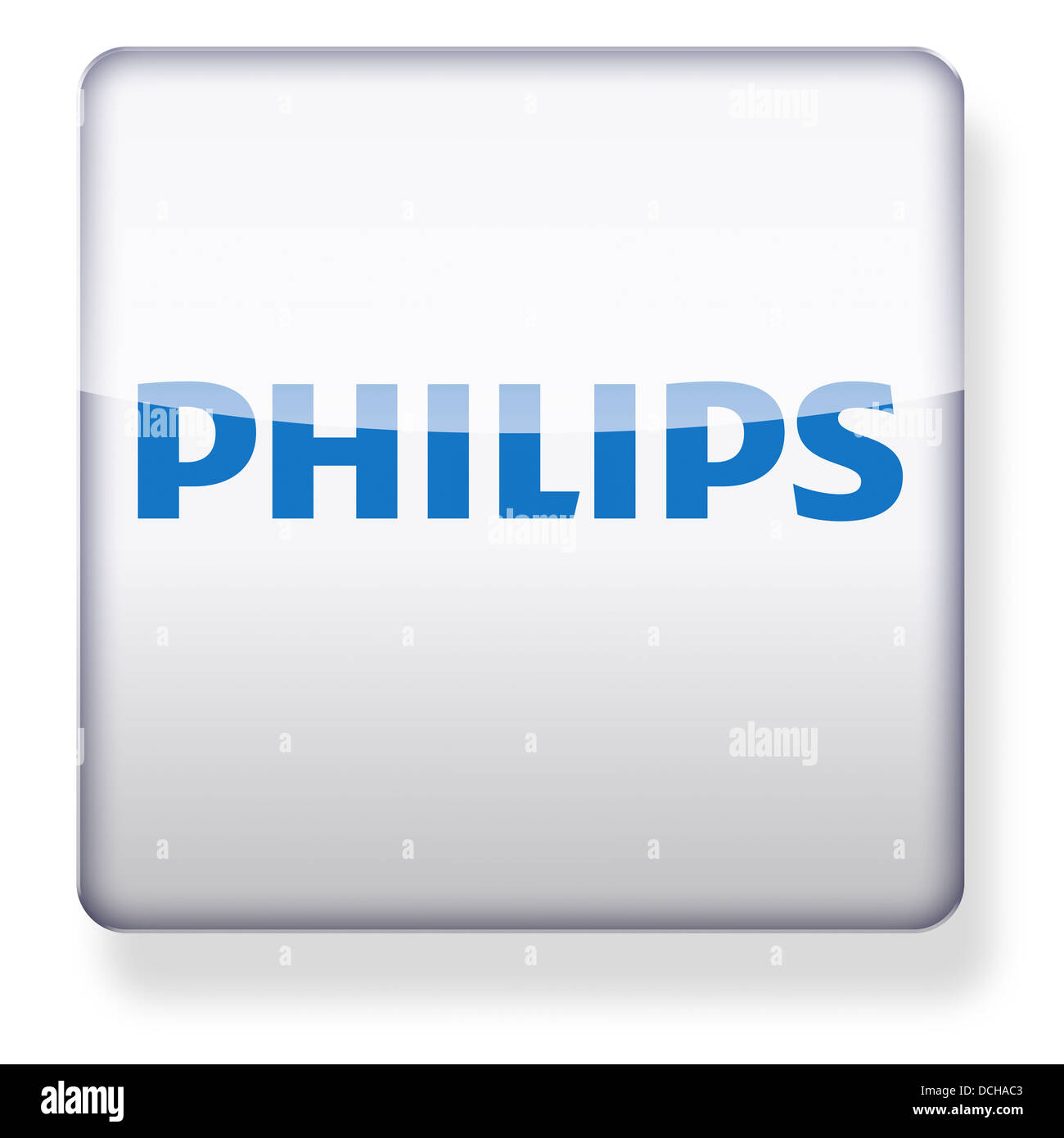 Philips electronics logo as an app icon. Clipping path included. - Stock Image