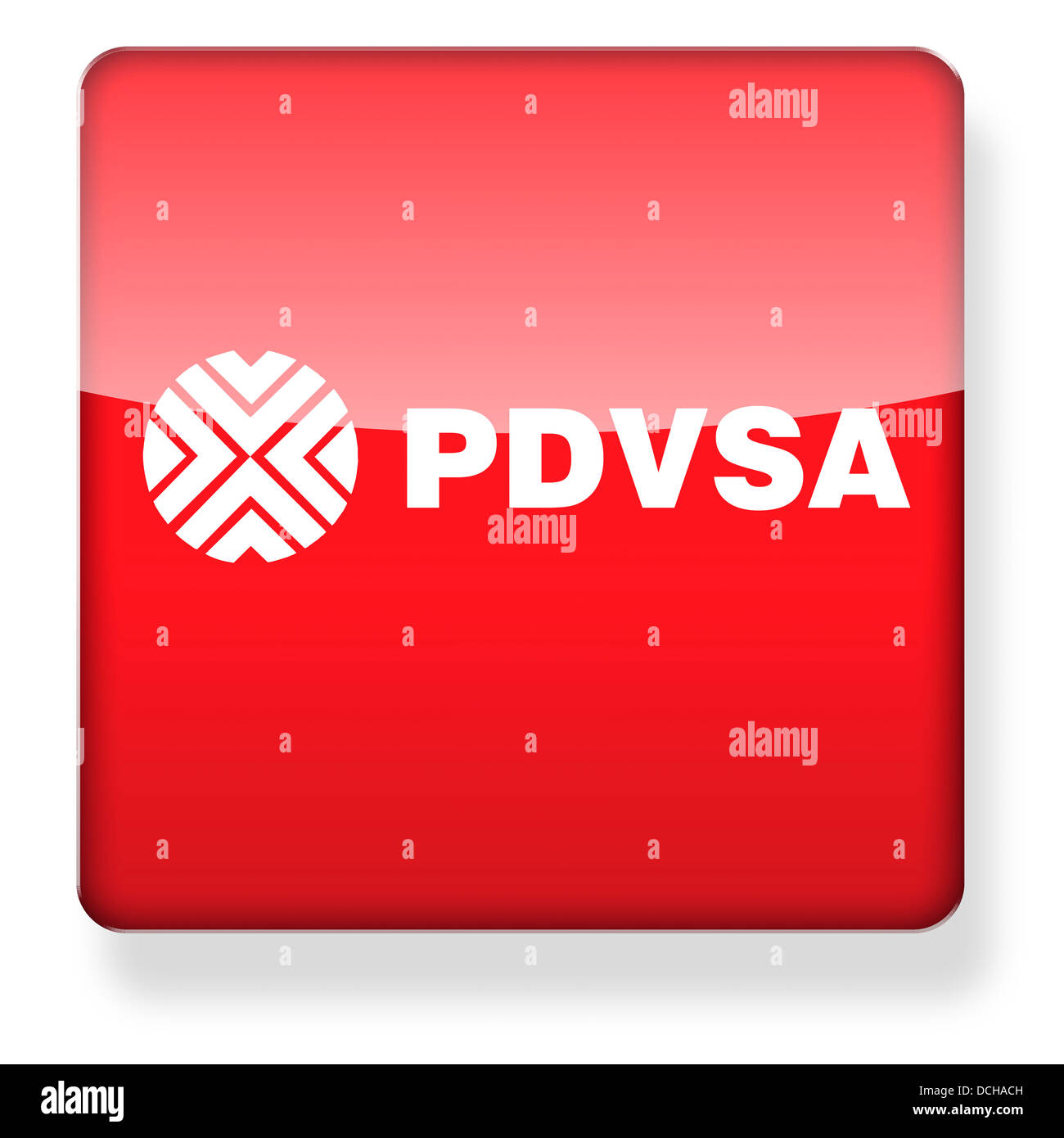 PDVSA logo as an app icon. Clipping path included. - Stock Image