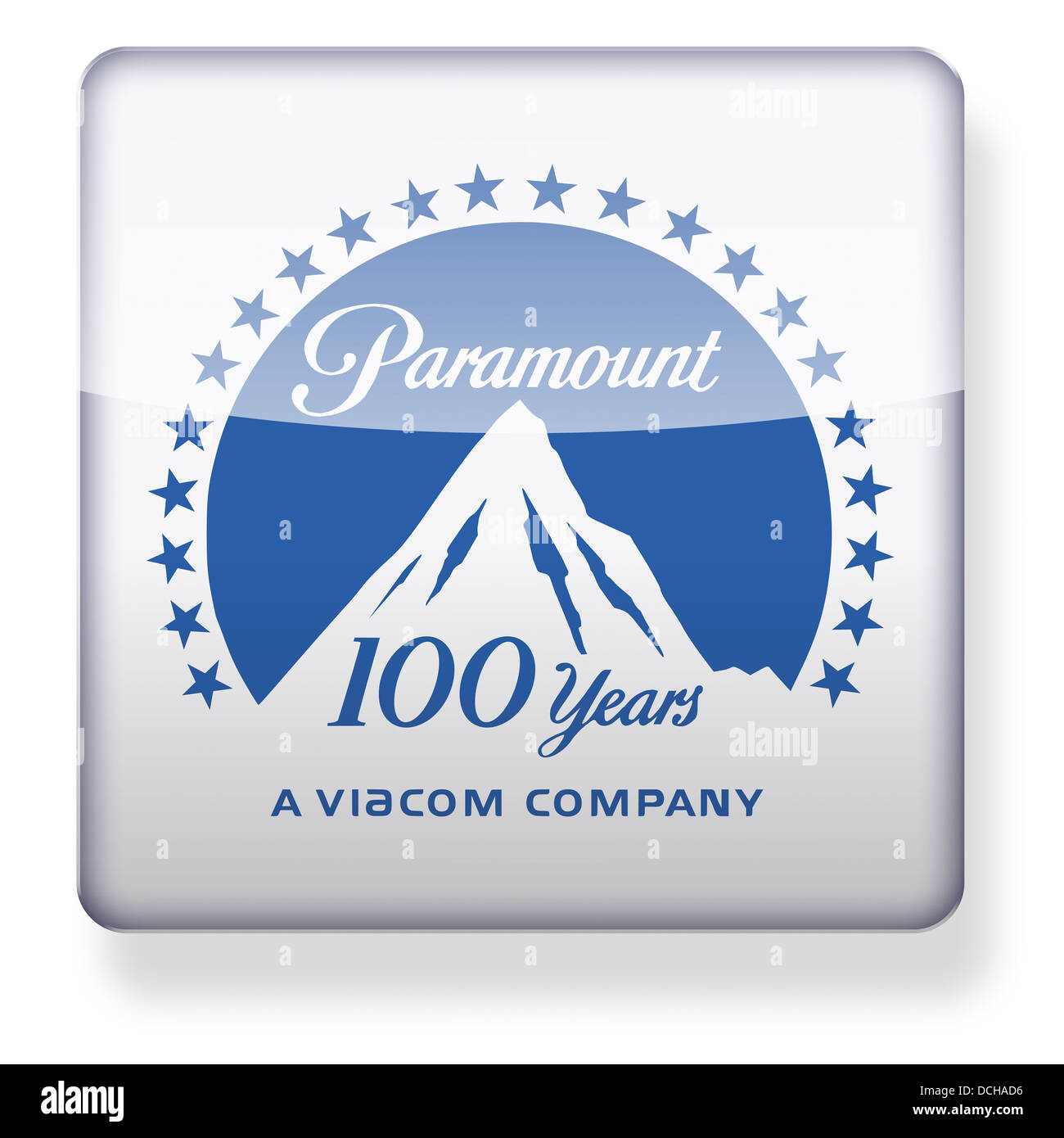 Paramount Pictures logo as an app icon  Clipping path