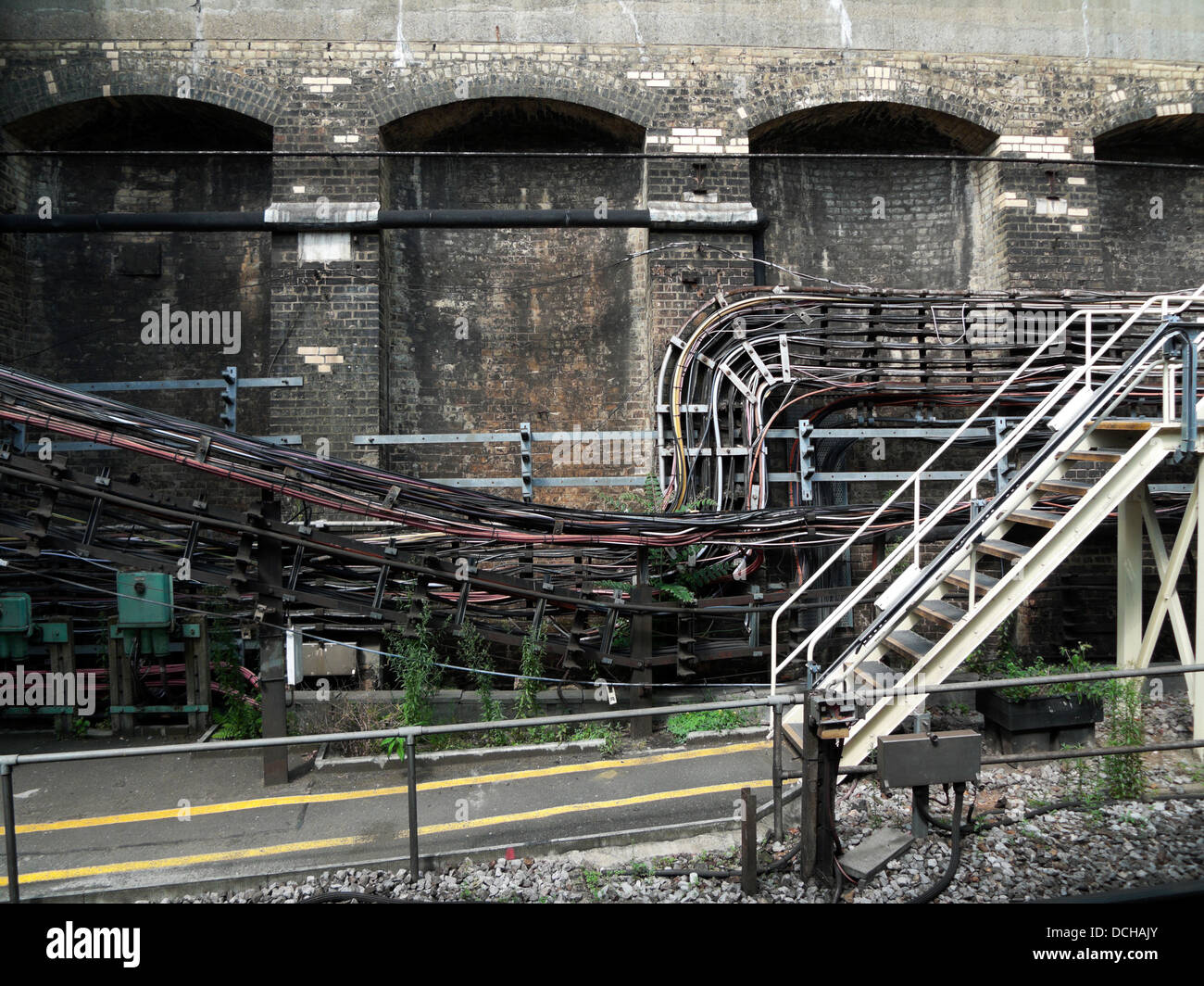 Underground Cable Stock Photos Images Alamy Wiring Code Canada A View Of The London Cables At Edgeware Road Station England Uk