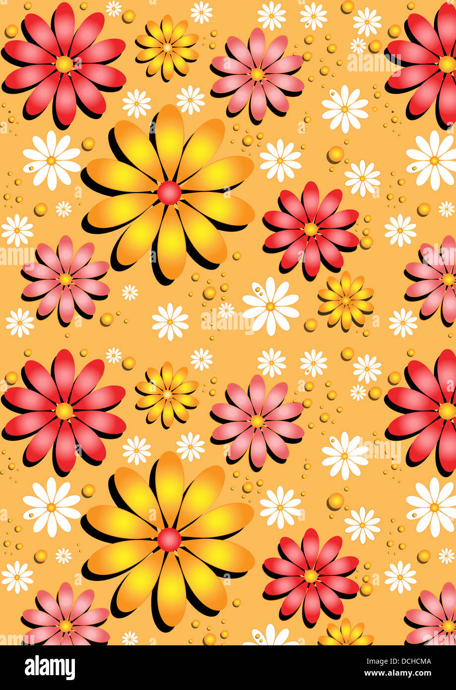 Wallpaper Flowers Red Pink Yellow High Resolution Stock Photography And Images Alamy