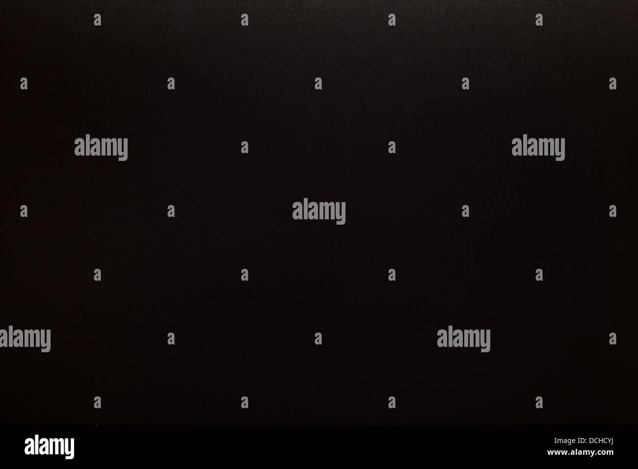 New empty blank black chalkboard - Stock Image