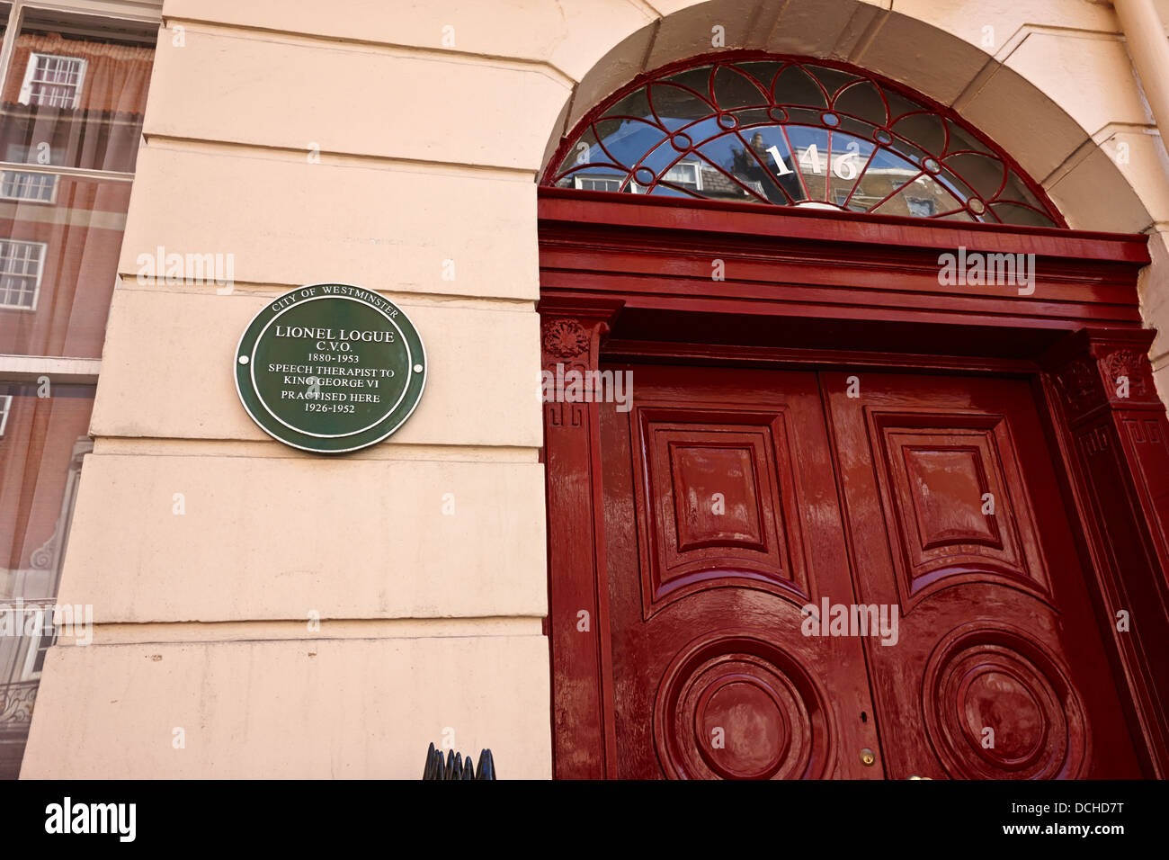 146 harley street previously the practise of lionel logue of the kings speech fame London England UK - Stock Image
