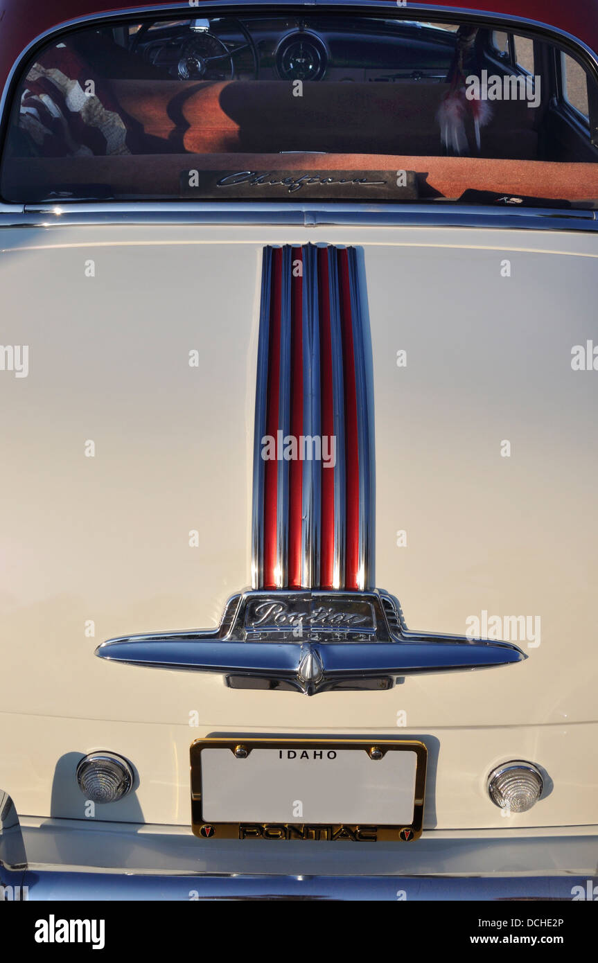 Trunk of a 1951 Pontiac Chieftan Stock Photo